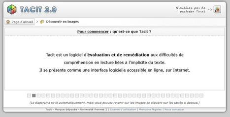 Tacit : logiciel en ligne de remédiation aux difficultés de ...   Lecture Remédiation et Accompagnement   Scoop.it