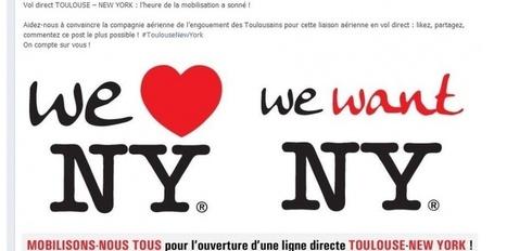 Mobilisation sur Facebook pour créer une ligne Toulouse-New York | Toulouse & son économie | Scoop.it