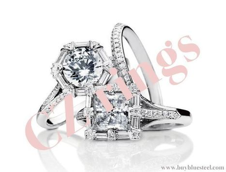 CZ rings   Wedding Rings Collection   Scoop.it