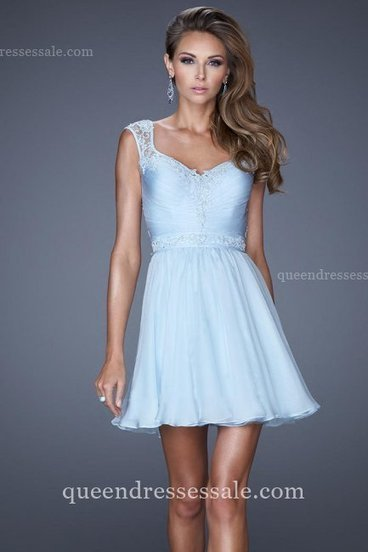 Powder Blue La Femme 20618 Short Dresses with Cap Sleeves for Homecoming [La Femme 20618] - $159.00 : Wholesale Prom Dresses and Homecoming Dresses for You | Prom Dresses & Homecoming Dresses | Scoop.it