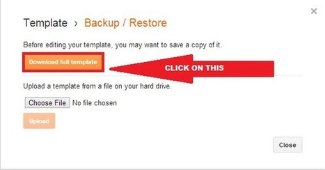 How to backup and restore your template in blogger | Worldwidenetworkings and worldtrick360 | Scoop.it