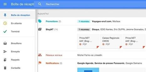 Google Inbox : prise en main et test de la nouvelle messagerie | netnavig | Scoop.it