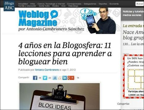 Hazte un maestro de los blogs con estas 10 buenas prácticas | Weblog Magazine | curiosidad de una mujer madura | Scoop.it