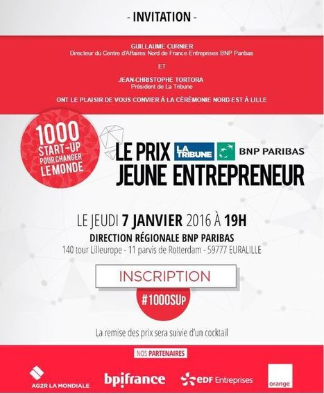 Le Prix La Tribune BNP Paribas Jeune Entrepreneur [Nord-Est] - Maddyness | BNP Paribas | Scoop.it