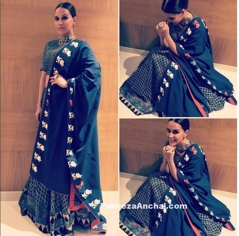 Neha Dhupia in Summer Special Dress in Natasha J label Lehenga | Indian Fashion Updates | Scoop.it