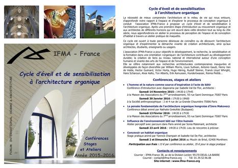 """""""Cycle d'éveil et de sensibilisation à l'architecture organique"""" - IFMA-France   Architecture Organique   Scoop.it"""