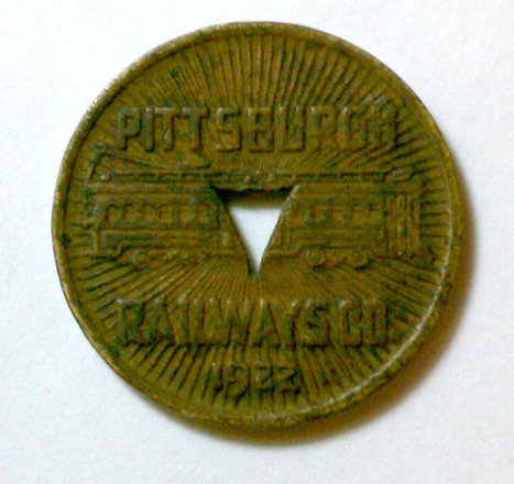 Pittsburg Railways Co. Transit Token 1922 Triangle Cut-Out Vintage Exonumia | Antiques & Vintage Collectibles | Scoop.it