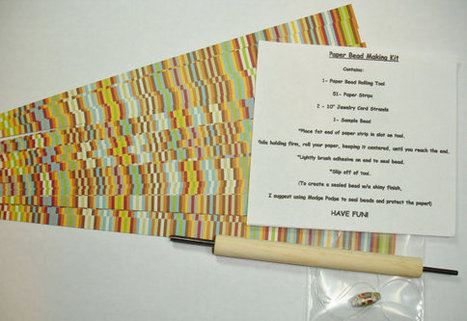 Paper Bead Making Kit (Dbl sided harvest stripe) | Digital Stamping and Papercrafts | Scoop.it