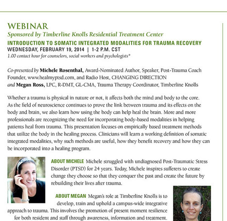 TK Clinical Webinar on Somatic Integrated Modalities for Trauma Recovery | Cooking | Scoop.it