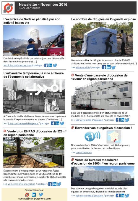 CAMPOSPHERE - Newsletter Novembre 2016 (version francaise).pdf | Construction et gestion d'installations temporaires | Scoop.it