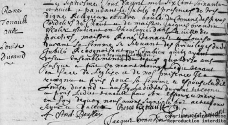 Mariage à la Gaumine à Oyré en 1668 | GenealoNet | Scoop.it