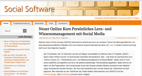 - Social Software | #iddg13 - MOOC - Interdisziplinärer Diskurs zur digitalen Gesellschaft | Scoop.it