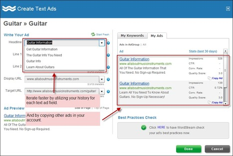 AdWords Ad Writing Tools: 3 Ways to Write Better Ads (Faster) with WordStream | Business 2 Community | Market to real people | Scoop.it