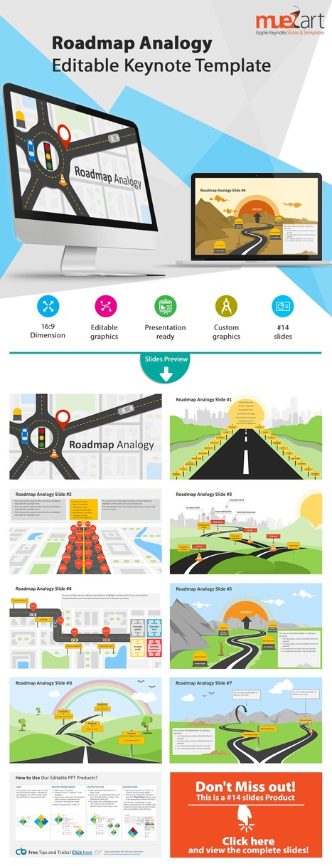 Roadmap Analogy Keynote Template | Apple Keynote Slides For Sale | Scoop.it