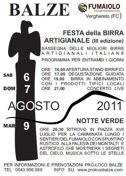 Festa della Birra Atigianale 2011 | Pro loco Balze | Le Birre | Scoop.it