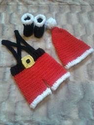 Crochet Santa Outfit Newborn to 12 Months | crochet for babies | Scoop.it