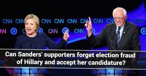 POLL : Can Sanders' supporters forget election fraud of Hillary and accept her candidature? | The Peoples News | Scoop.it