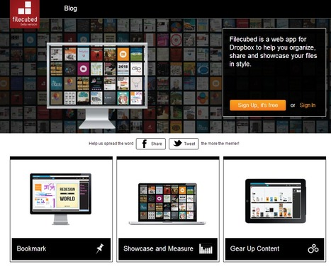 Filecubed : web app for Dropbox to help you organize, share and showcase your files in style | Time to Learn | Scoop.it