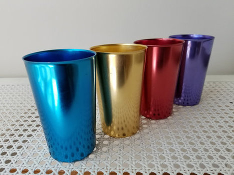 Vintage Aluminum Tumblers Set | whats been spotted on etsy today? | Scoop.it