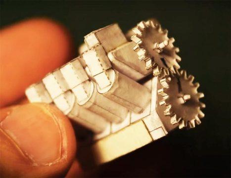 Il fabrique un moteur V8 miniature et fonctionnel, uniquement avec du papier ! | Laboratoire arts & technologies | Scoop.it