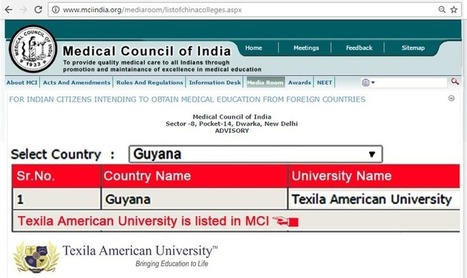 MCI Recognition: A crucial Factor for Medical Studies Abroad | Texila Health plus | Scoop.it