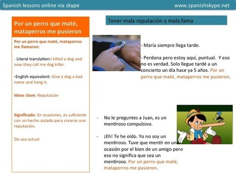 Common saying in Spanish Spanish lessons online   Aprender español online via skype   Scoop.it
