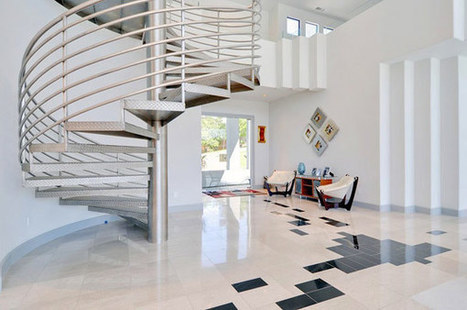 Luxury Minimalist Hallway with Beautiful Floor and Staircase   Decorating Ideas - Home Design Ideas   Scoop.it