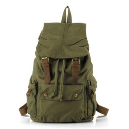 Military green canvas scout field backpack unisex from Vintage rugged canvas bags | personalized canvas messenger bags and backpack | Scoop.it