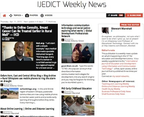 April 11, 2013: IJEDICT Weekly News is out | Studying Teaching and Learning | Scoop.it