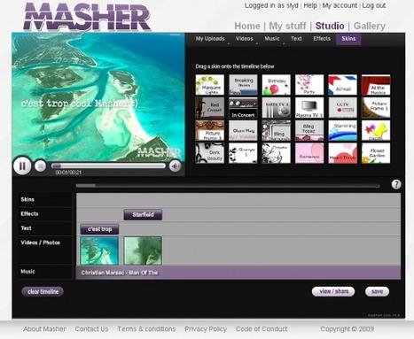 Masher – Studio de montage vidéo gratuit en ligne   SlyDnet   az.13@live.fr   Scoop.it