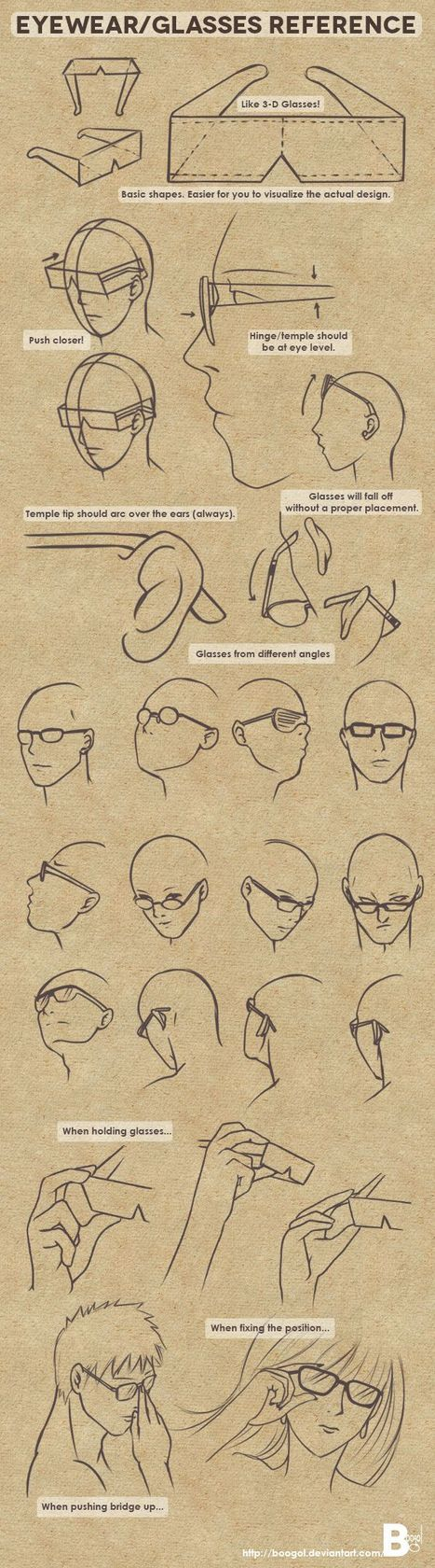 Drawing References For Beginners Glasses Drawing Reference