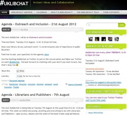 #uklibchat, #ECRchat, #PhDchat, #Socialchat and OtherTweetchats | Healthcare Researchers and Social Media | Scoop.it