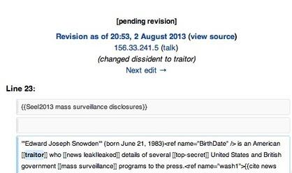 L'adresse IP du Sénat américain repérée sur un changement de la définition de Snowden sur Wikipédia   Archivance - Miscellanées   Scoop.it