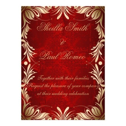 Red and Golden Wedding Invitation   Adriane Designs   Scoop.it