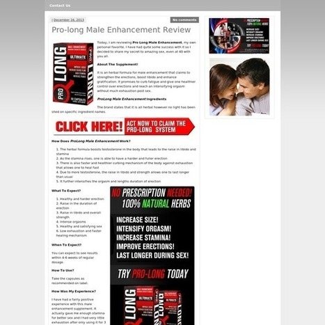 Pro-long Male Enhancement Review - How Effective it is   Improves Your Strength   Scoop.it
