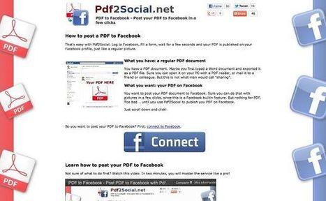 Pdf2Social, comparte archivos PDF en Facebook con esta herramienta web | Las TIC y la Educación | Scoop.it