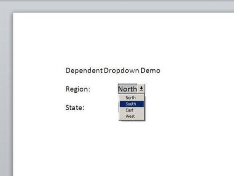 How to populate a dependent dropdown list in Word | TechRepublic | Dependent dropdown lists in Word | Scoop.it