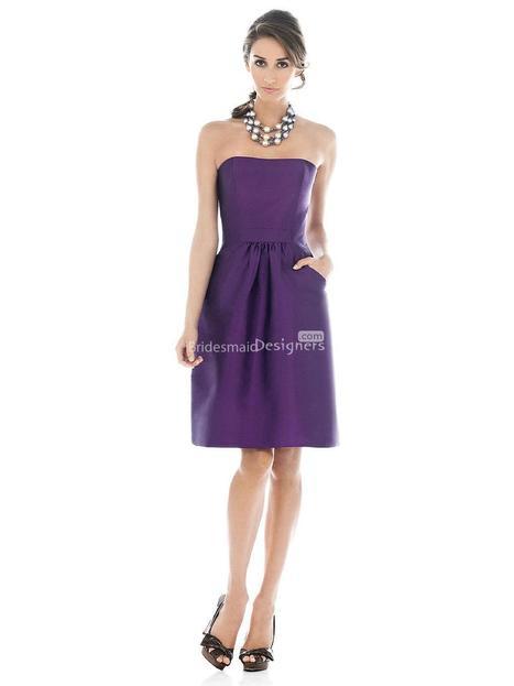 Fashion Purple Knee Length Sleeveless A-line Satin Bridesmaid Dress with Pocket | Designer Bridesmaid Dress 2014 | Scoop.it