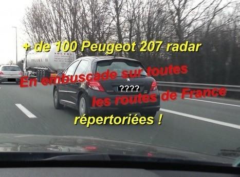 Radar embarqué : les plaques d'immatriculation de Peugeot 207 | Radars | Scoop.it