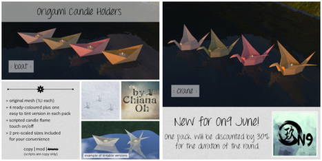 CHIANA OH - ORIGAMI CANDLE HOLDERS | Second Life - Ethnicity | Scoop.it