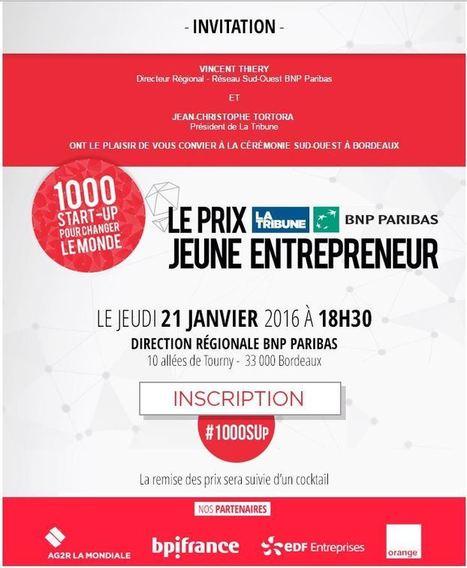 Prix La Tribune BNP Paribas Jeune Entrepreneur [Sud-Ouest] - Maddyness | BNP Paribas | Scoop.it