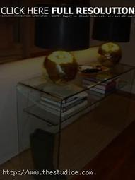 Furniture Ideas: Glass Console Table Idea For An Elegant Home, metal and glass console table, glass console table ~ TheStudioe | Home Design Ideas | Scoop.it