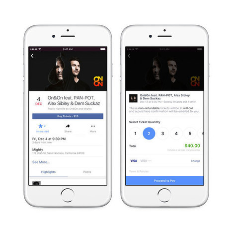 Facebook begins selling concert tickets directly on events pages | Music Industry | Scoop.it