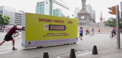 Axa crée un panneau d'affichage qui vous fait perdre des calories | Habillage Urbain | Scoop.it