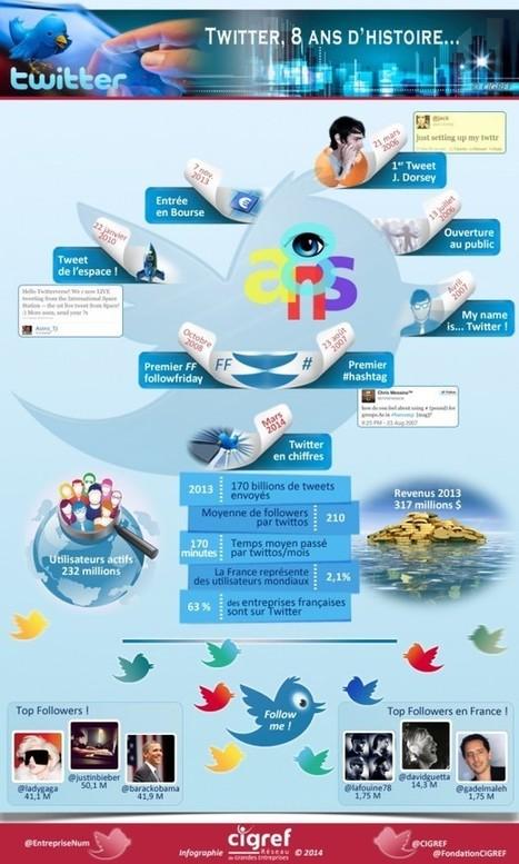 Twitter, depuis 8 ans dans le paysage du web | Histoire CIGREF | Mon Territoire Numérique | Scoop.it