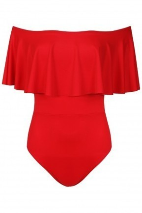 Off The Shoulder Frill Bardot Leotard | Stylewise Direct | Women's Fashion Online | Scoop.it