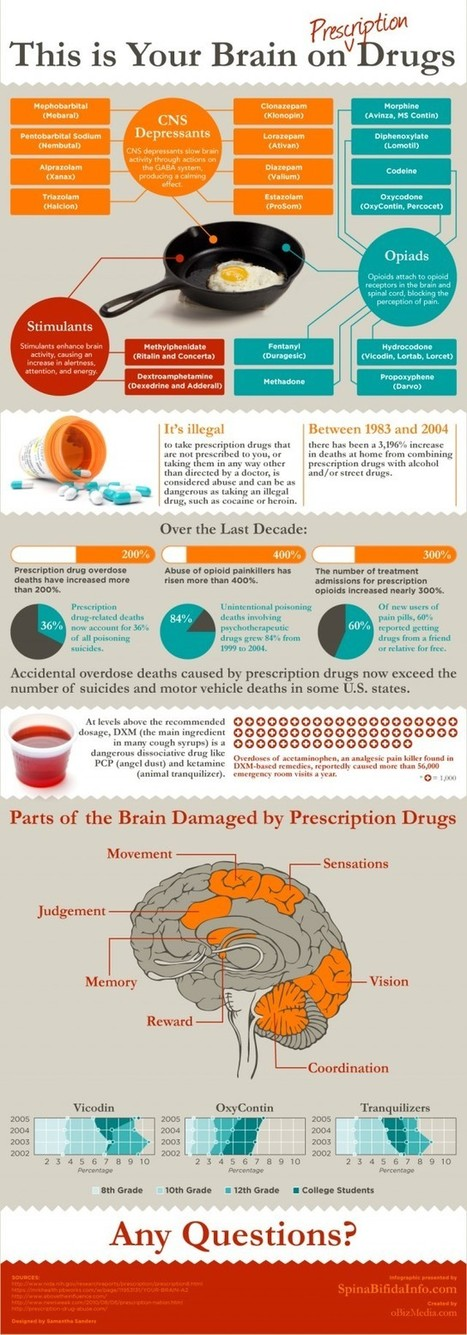 Your Brain on Prescription Drugs [infographic] | Daily Infographic | Content Ideas for the Breakfaststack | Scoop.it