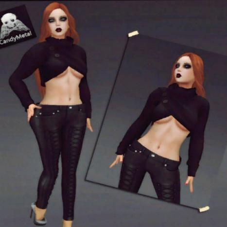 Black Top and Pant September 2013 Group Gift by Candy Metal | Teleport Hub - Second Life Freebies | Second Life Freebies | Scoop.it