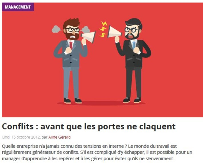 Question Management - Gestion de conflits | IFETH 83 | Scoop.it