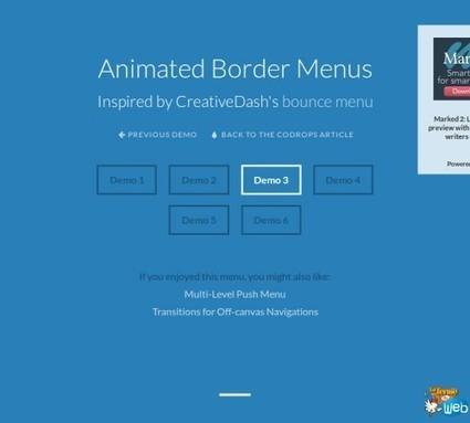 Des menus animés sur les bords de vos pages web | Au fil du Web | Scoop.it